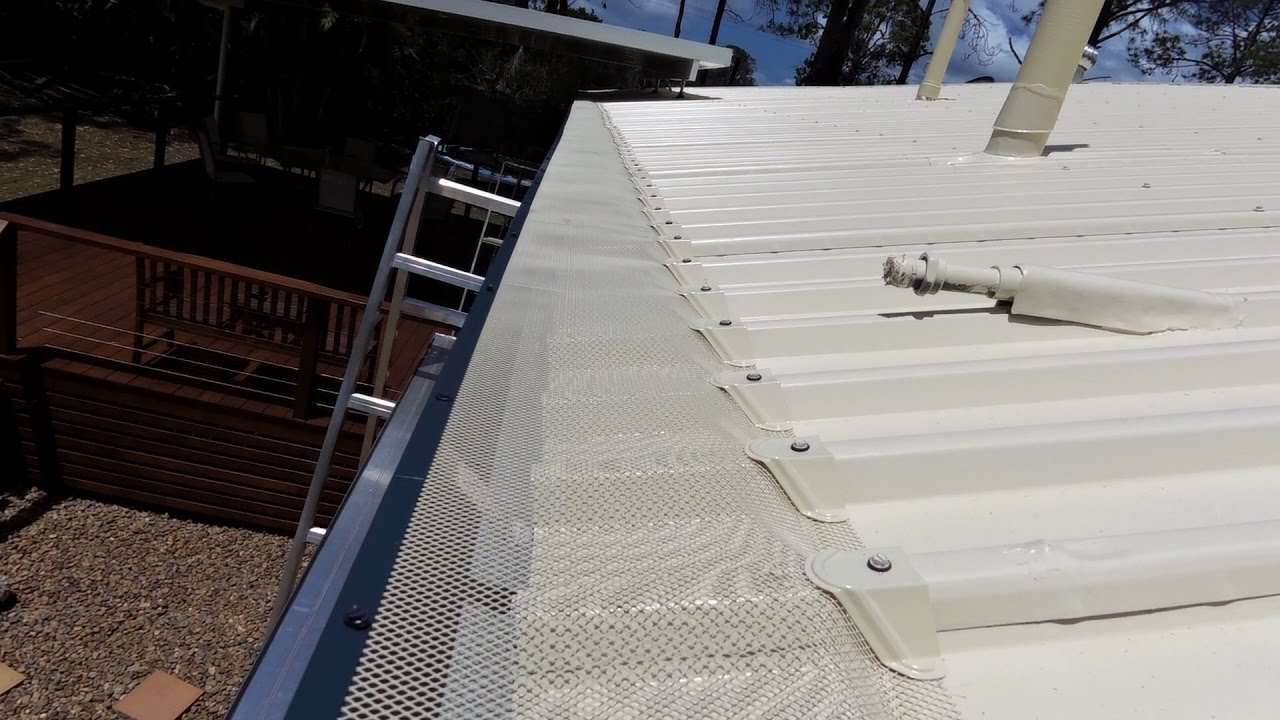 How To Install Blue Mountain Gutter Guard To A Trimdek