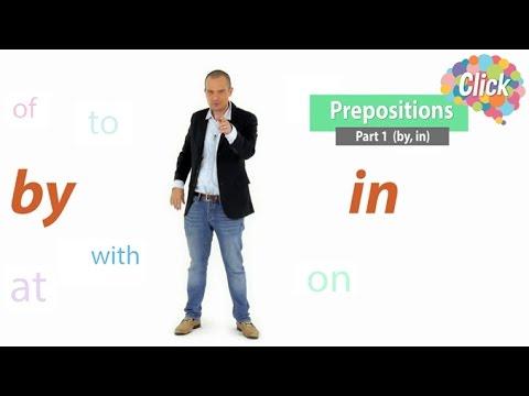Click  [by Mahidol] Preposition - Part 1 (by, in) - by กับ in ใช้ให้ถูก หมายความว่าอะไรได้บ้าง