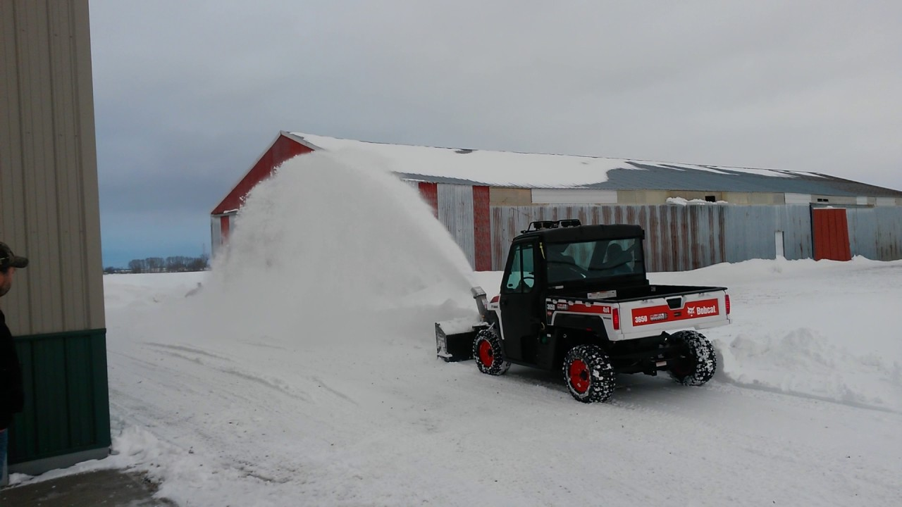 Bobcat 3650 Utility Vehicle blowing snow