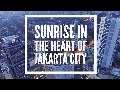 SUNRISE IN THE HEART OF JAKARTA CITY