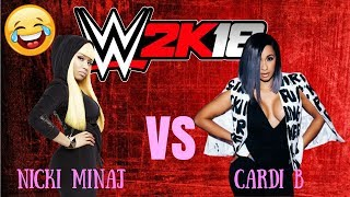 WWE 2K18 - Nicki Minaj vs. Cardi B Celebrity Brawl