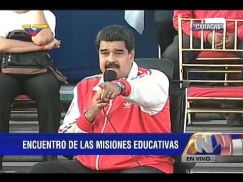 Acto del Presidente Maduro con Misiones Educativas en 23 de Enero