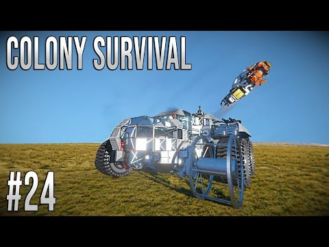Space Engineers - Colony Survival Ep #24 - MOBILE BASE!