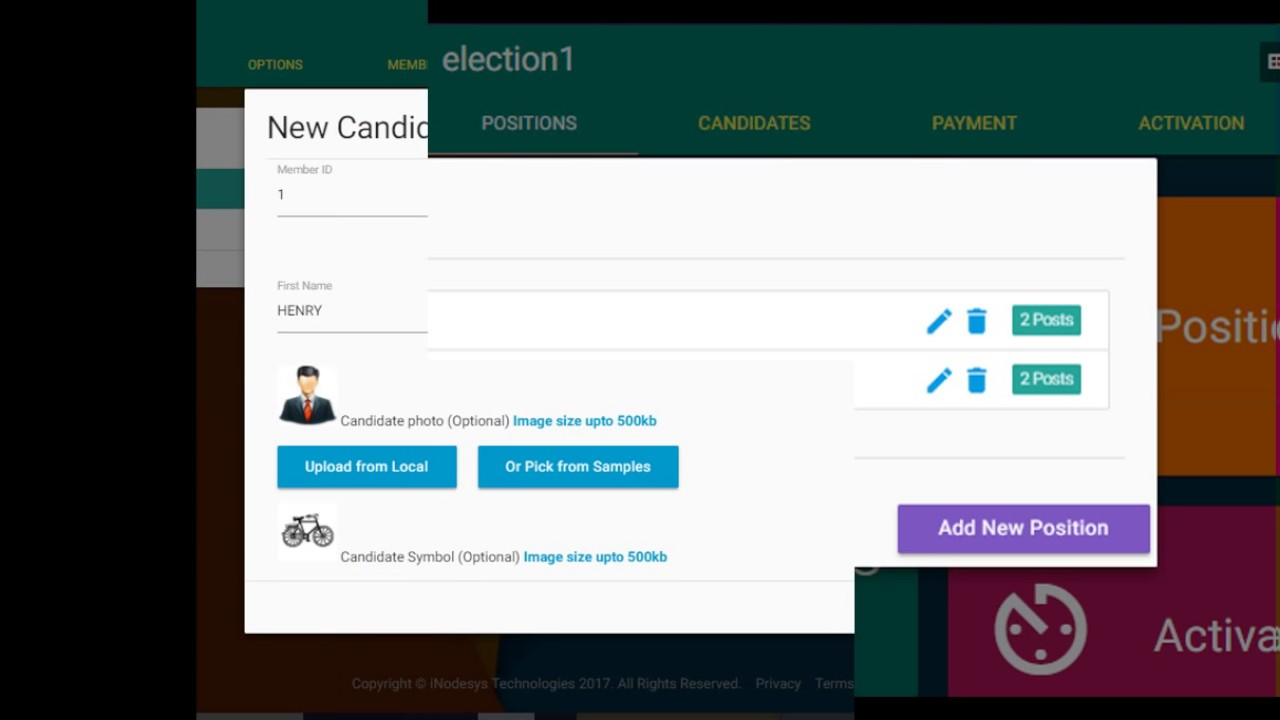 https://evote online - Online Voting System - Website Screenshots - Conduct  free elections