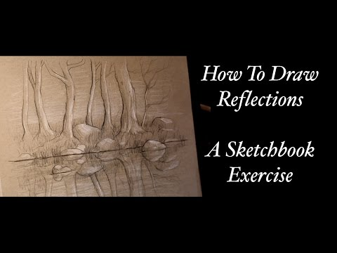 How to draw - introduction to reflections, a sketchbook exercise by Tim Gagnon