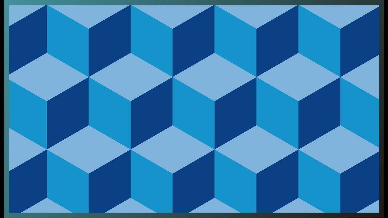 Belajar cara membuat gambar geometris Kubus 3d dengan ...