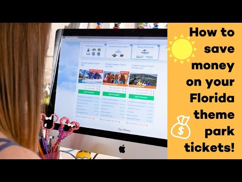 How to save money on your Florida theme park tickets!