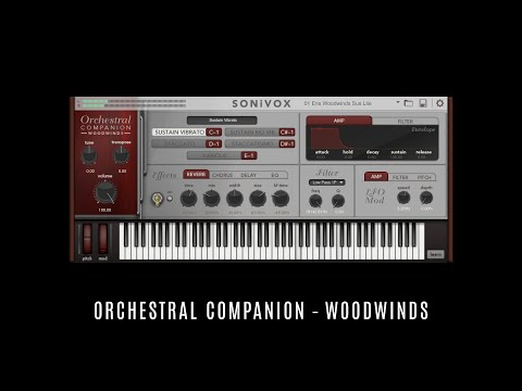 Orchestral Companion – Woodwinds • SONiVOX • 15 Selected Factory Presets • Sounds Patches Demo VST