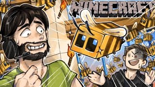 FILLING WILDCATS HOUSE WITH BEES! (We nearly broke the game) - Minecraft