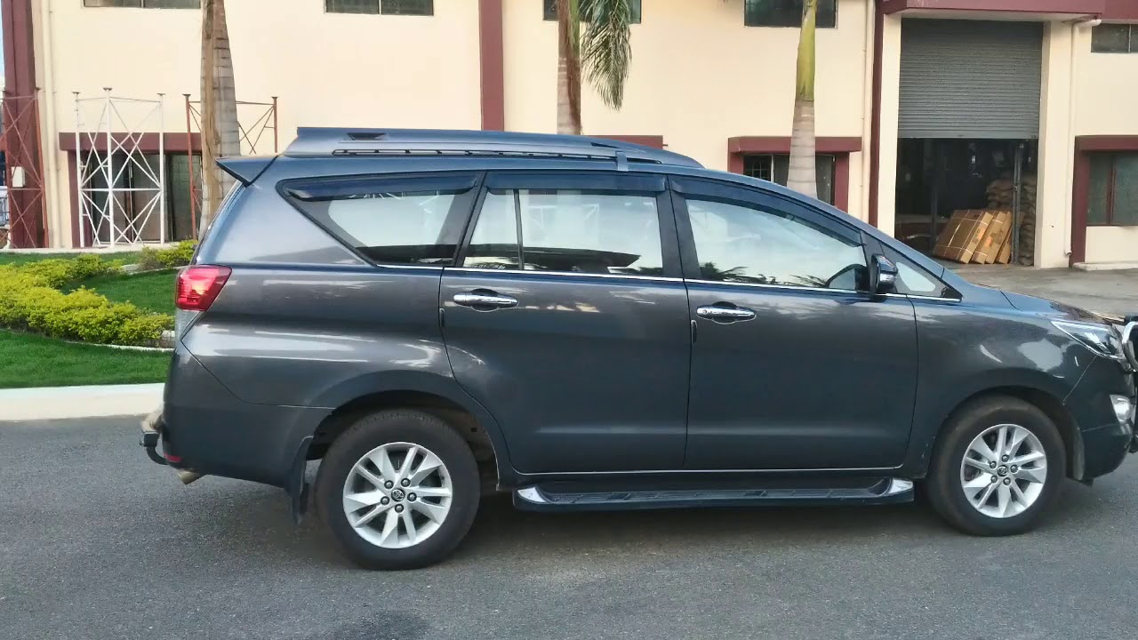 Innova Crysta Accessories Side Steps Body Colour Roof Rack And Rear Guard With Easy Installation Youtube