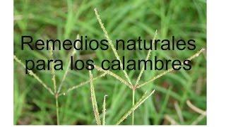 Remedios naturales para calambres
