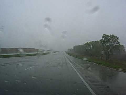 (Cell Phone Video) Driving Through a Monsoon in Nebraska, USA