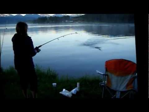 Liz fishing georgetown lake montana youtube for Lake georgetown fishing