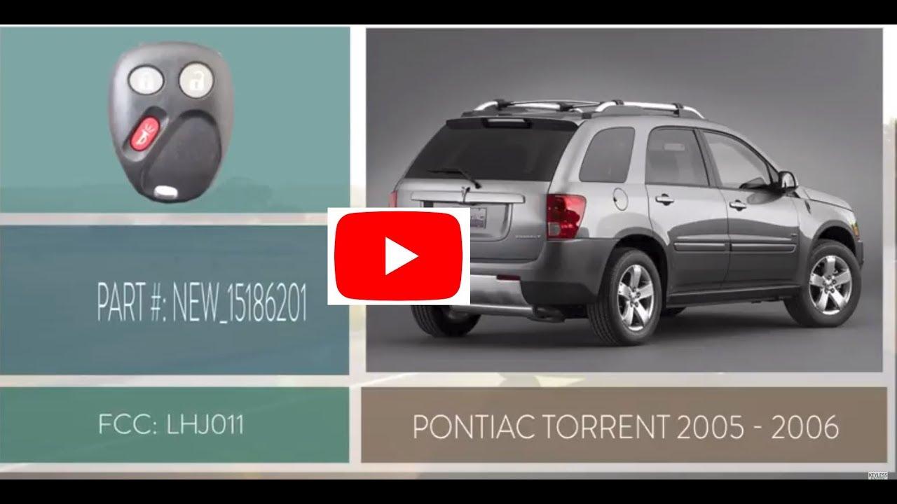 How To Replace A Pontiac Torrent Key Fob Battery 2005 - 2006