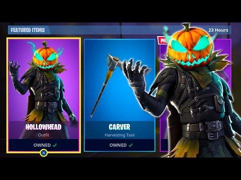 new-hollowhead-pumpkin-skin-gameplay-w-wins-fortnite-battle-royale