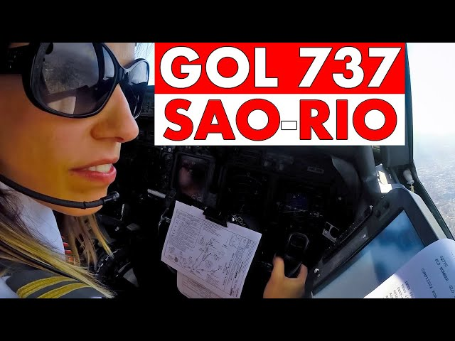 Piloting Boeing 737 SAO to RIO |  Scenic Landing Cockpit View