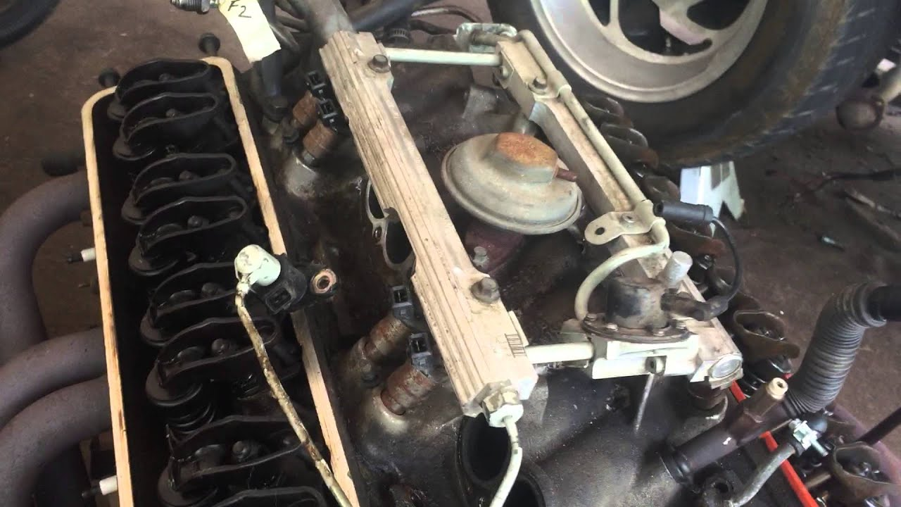 How to dissasemble chevy L98 350 TPI engine  YouTube