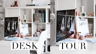 MY DESK TOUR | Rose Gold & Marble ♡
