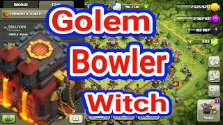 Gambar cover Tutorial Golem Bowler Witch Serangan WAR TH 10 PURWOKERTO WAR. Panduan TH 10