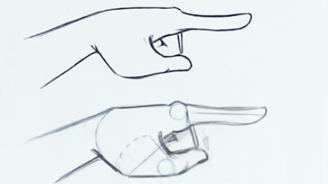 How to draw a hand expression easy