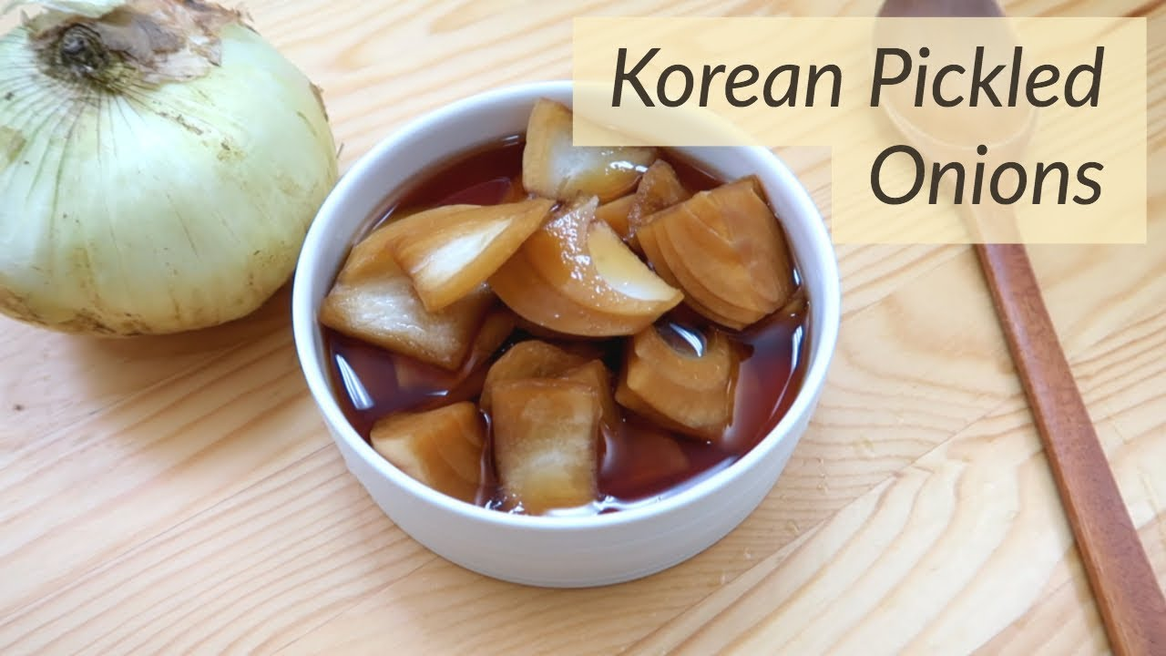 How to make Korean Pickled Onions!