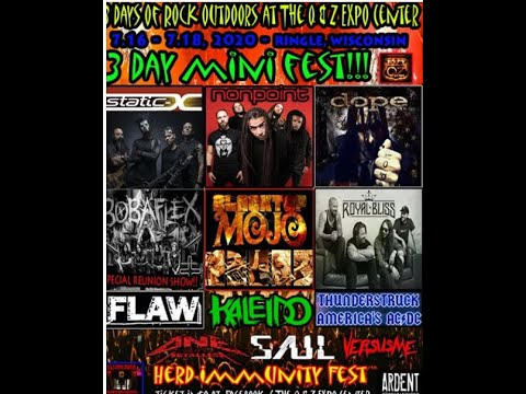 'Herd Immunity Fest' feat. Static-X, Nonpoint, Dope and lots more....!