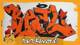 Graffiti Tutorial - How to draw graffiti letters REAL