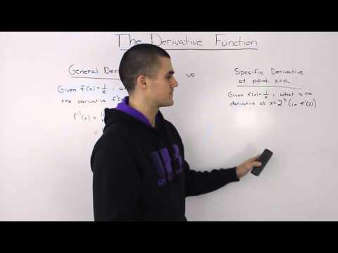 General Derivative vs. Specific Derivative