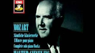 GIESEKING - Mozart Capriccio C-Dur KV 395