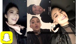 Kylie Jenner w/ Tyga on Snapchat | Kylie Snaps