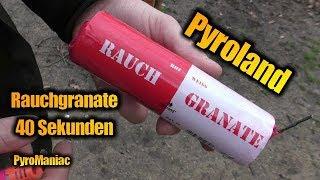 Pyroland Rauchgranate Rot/Weiß | PyroManiac