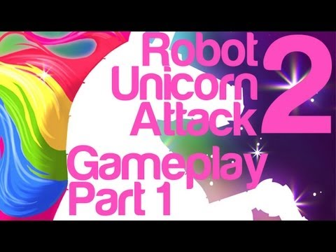 Robot Unicorn Attack 2 Gameplay Part 1 | WikiGameGuides