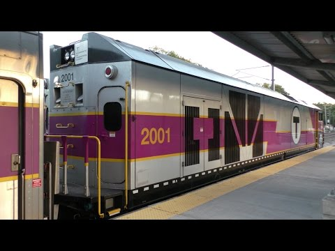MBTA Commuter Rail HD 60 FPS: MPI HSP46 2001 Idling At & Departing From Wickford Junction 9/15/16