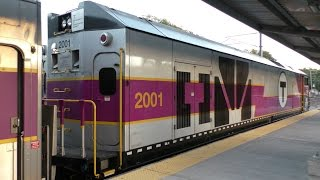 MBTA Commuter Rail HD 60fps: MPI HSP46 2001 Idling At & Departing From Wickford Junction 9/15/16