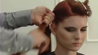 Видео урок, вечерняя прическа на очень длинные волосы с плетением.