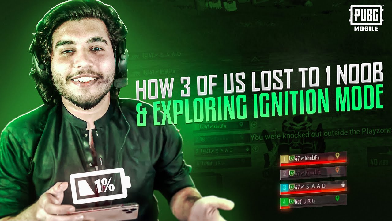 1% Charge In Last Circle | Exploring Mission Ignition with DARAZ Khalifa | Pubg Mobile
