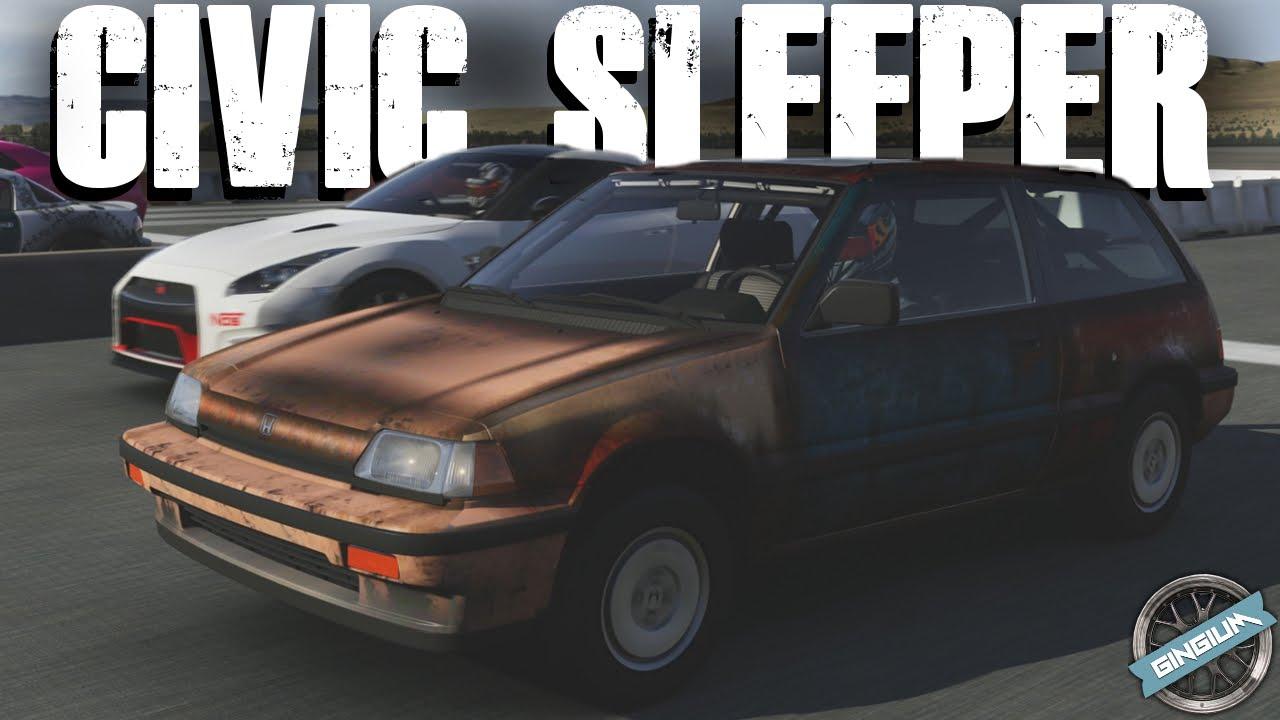 1986 Honda Civic SI || 700HP SLEEPER/WHEELIE BUILD || Forza 6   YouTube