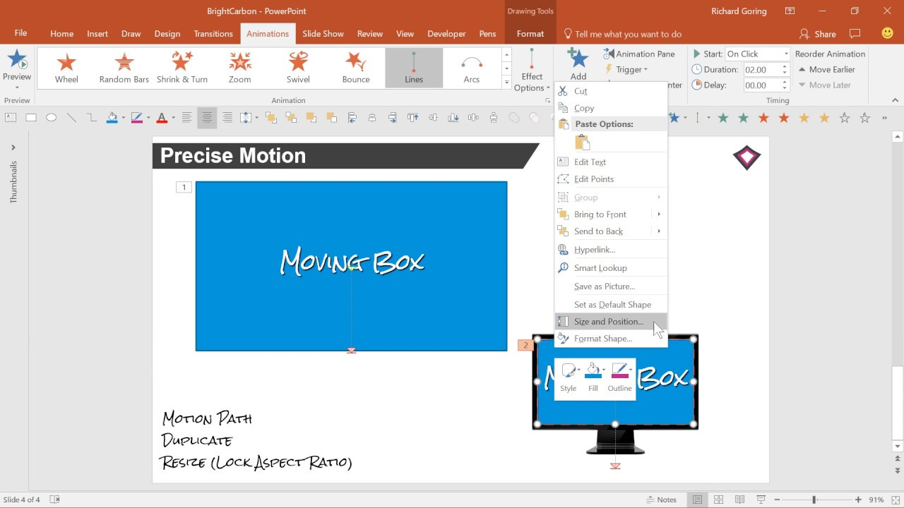 Precise Motion with Motion Paths Advanced PowerPoint Tutorial