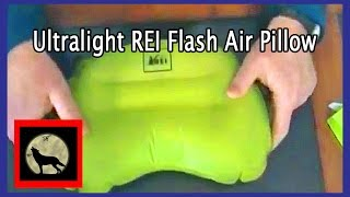 Ultralight REI Flash Air Pillow and REI Flannel Pillow Stuff Sack For Backpacking