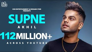 Supne (Official Video) Akhil | Latest Punjabi Love Songs  | New Punjabi Songs 2020