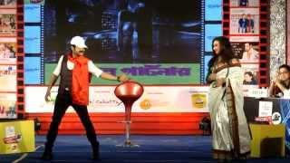 bioscope bajimat 2015 prasenjit and rituparnas dance on satge