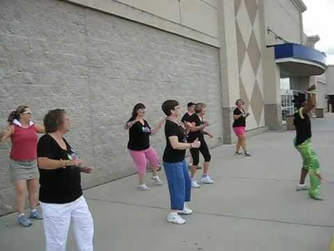 Curves of West Columbia Zumba Flash Mob Dances (NOT FOR SISSIES)