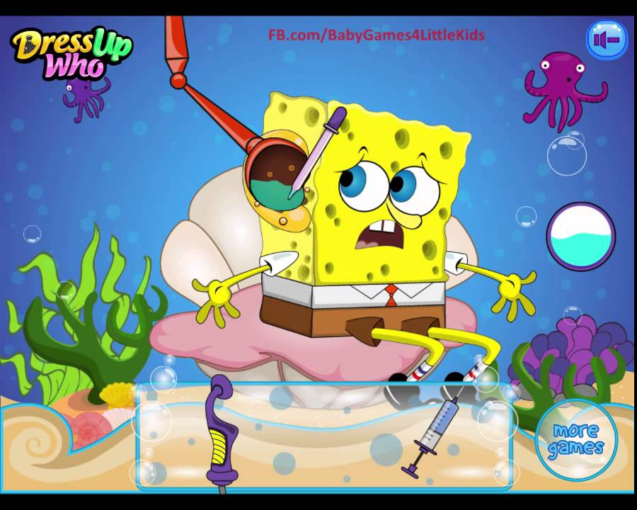 Top Games For Children To play Free: SpongeBob Ear Doctor- Game for Kids to Play Online - YouTube