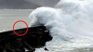 Repeat youtube video Temporal galicia: Olas gigantes 9 metros galicia tormenta galicia oleaje