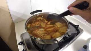 Cooking Mae-un-tang (spicy Codfish Soup)