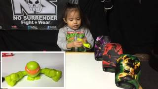 teenage mutant ninja turtles mash ems fist flyers target pack opening and review
