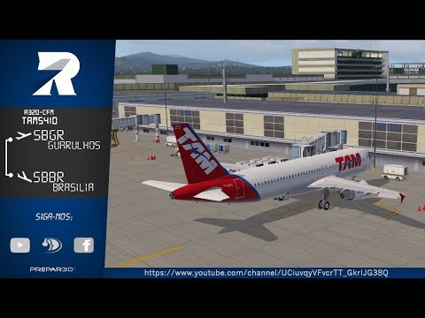 XPlane 11  –TAM 5410 - A320 CFM – Guarulhos (SBGR) / Brasilia (SBBR) - Flight Factor