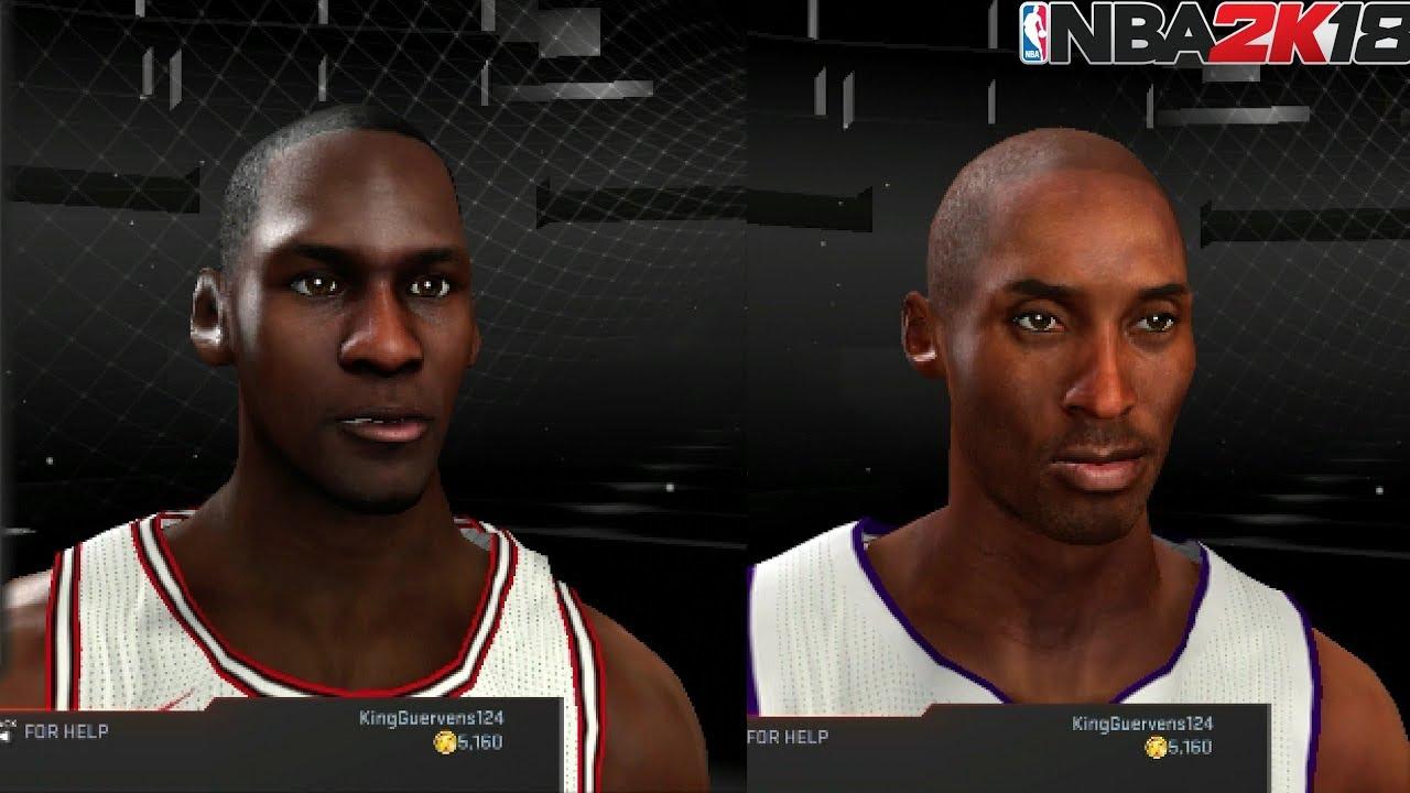 Nba 2k18 Xbox 360 Ps3 Last Gen Legend Faces Kobe Bryant Michael Jordan