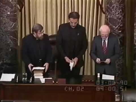 Download SIGN LANGUAGE: First prayer opening U.S. Senate by deaf chaplain March 8, 1990 via Gallaudet Univer.