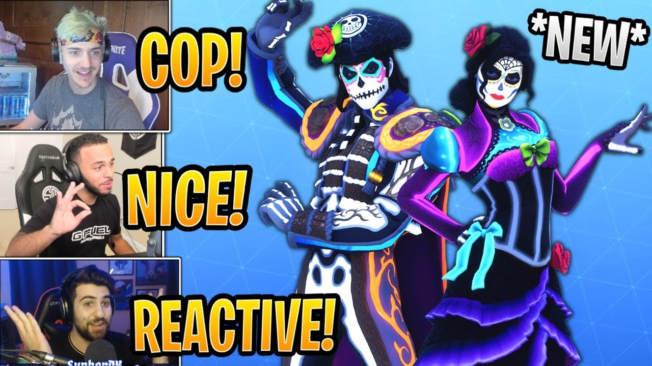 Streamers react to new reactive dante and rosa skins - Fortnite dante ...